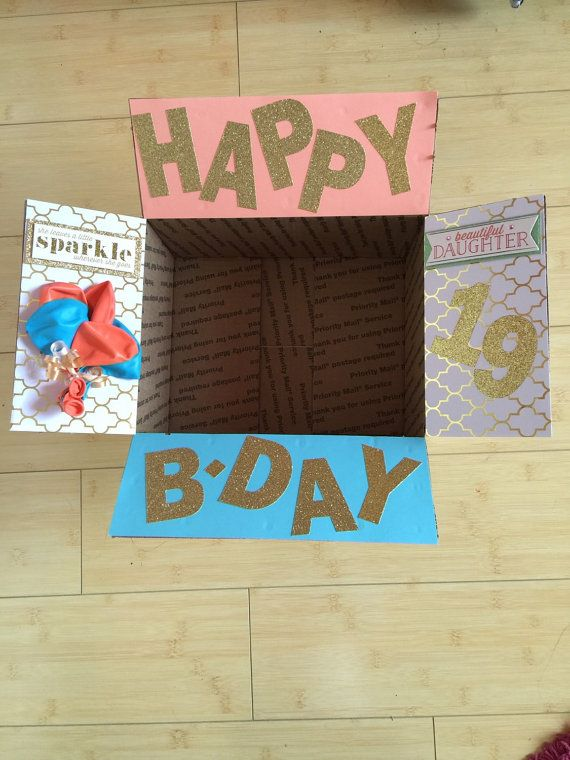 Happy BirthdayCare Package Box Flaps By ClassroomBling On Etsy 18 Birthday Gifts 18th Present