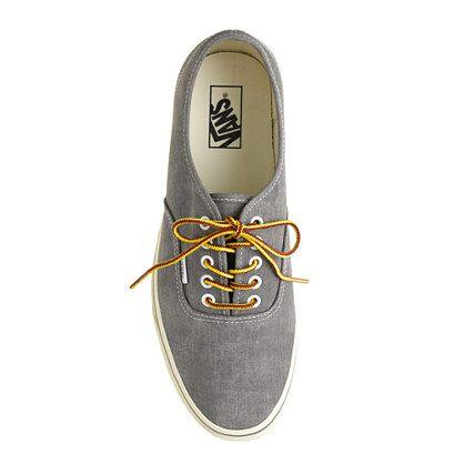 0b7d460fc26 washed canvas authentic sneakers   Vans® for J.Crew