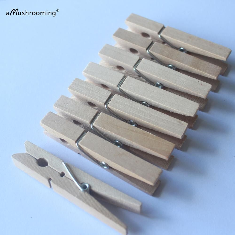 (50 Pieces/Lot) Large Wooden Clothespins 72mm Regular Size Pegs Vintage Laundry Display - ICON2 Luxury Designer Fixures  (50 #Pieces/Lot) #Large #Wooden #Clothespins #72mm #Regular #Size #Pegs #Vintage #Laundry #Display