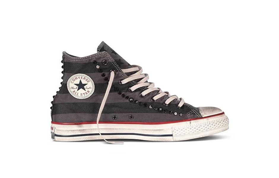 meet 5d267 08b89 Chuck Taylor All Star High- studded flag print Studded Sneakers High Grey  Converse   France   Home