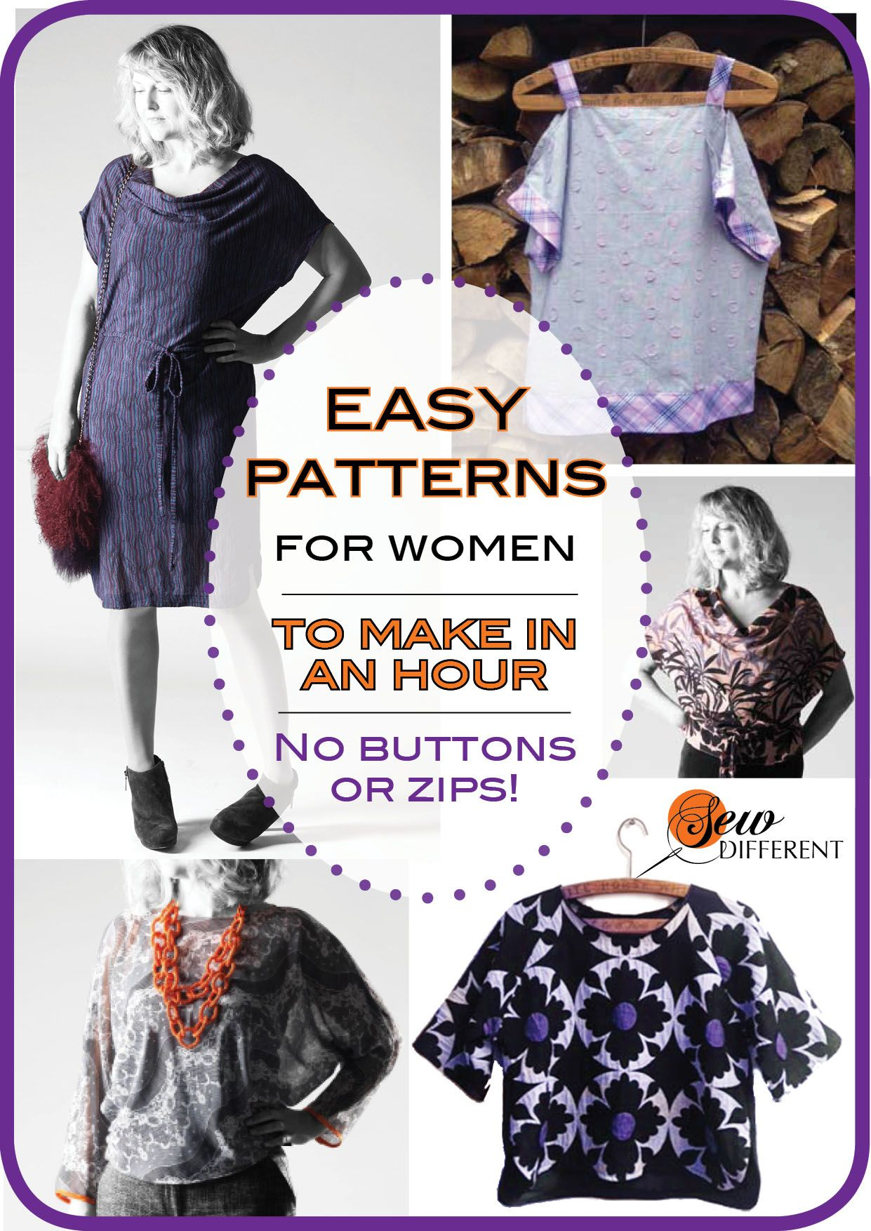 Easy FREE sewing patterns for womems. No zips or buttons, thank god ...