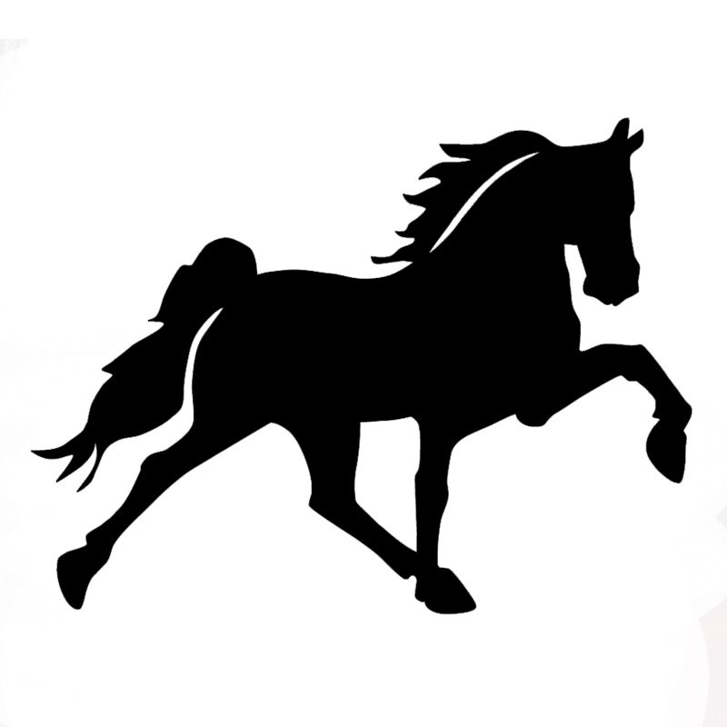 Wholesale Pcslot Pcslot Car Tuck Window Sticker Galloping - Decals for trucks customizedhorse decals horse stickersgraphics for horse trailers