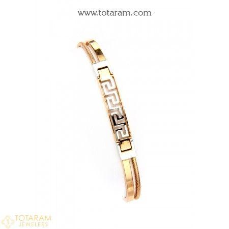 18K White Rose Gold Polish Bracelet for Men 235GBR1688 Buy