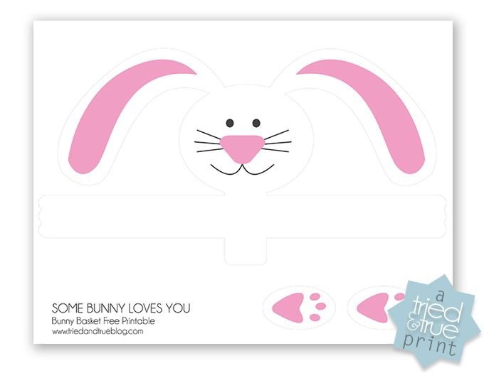 easter bunny tin free printable