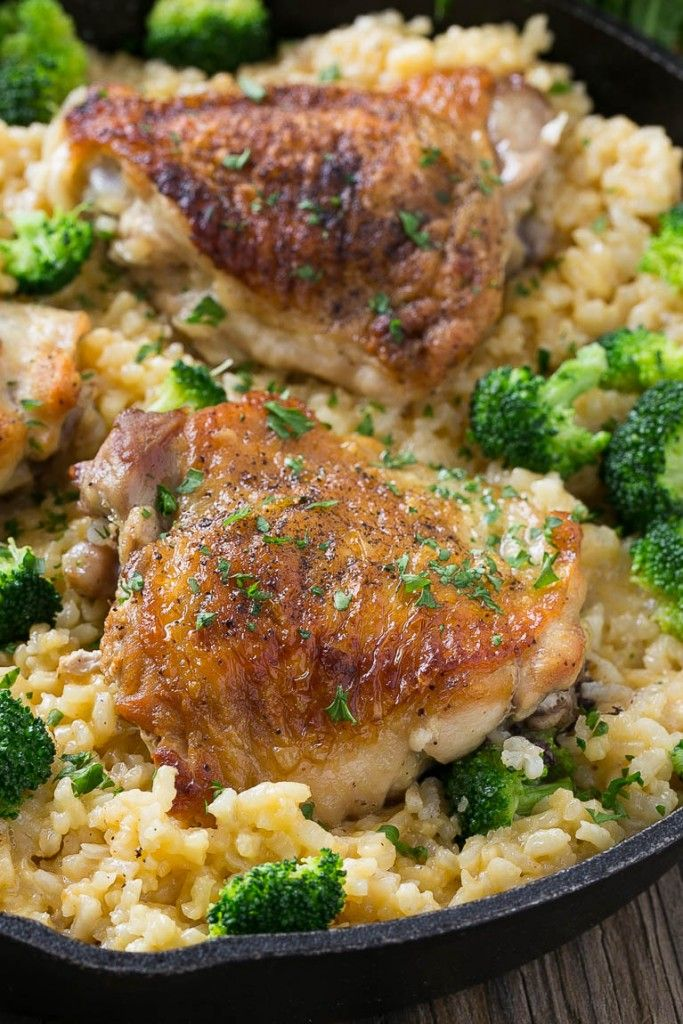 One Pot Chicken With Cheddar Broccoli Rice Dinner At The Zoo Chicken Thigh Casserole Chicken Broccoli Rice Casserole Chicken Broccoli Rice