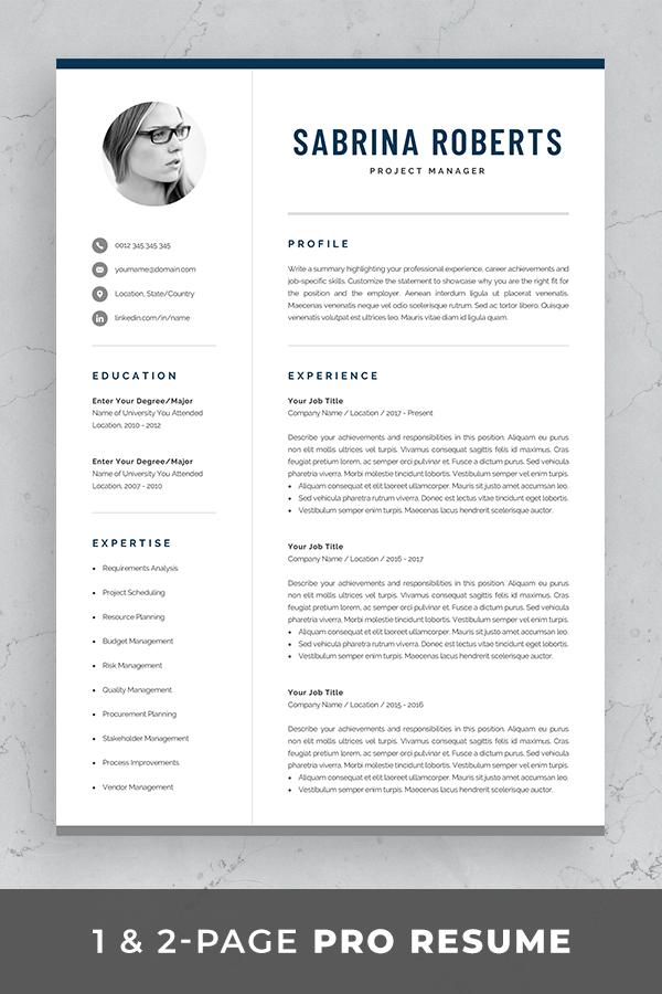 Resume Template Professional Resume Cv Template Modern Resume Resume Template Word Creative Resume Design Manager Cv Sabrina Resume Template Word Modern Cv Template Resume Template Professional