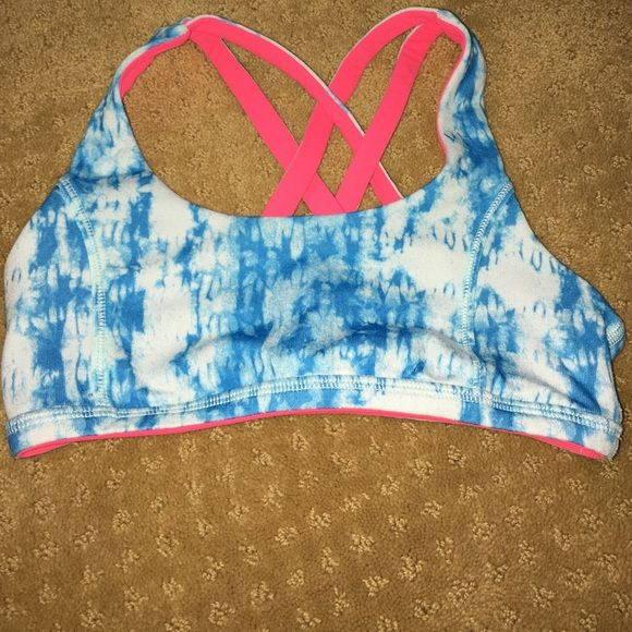 13728f71fbdd2 Ivivva sports bra Cute ivivva sports bra size 6. It is reversible from a blue  design to pink! Very comfy and in perfect condition!!