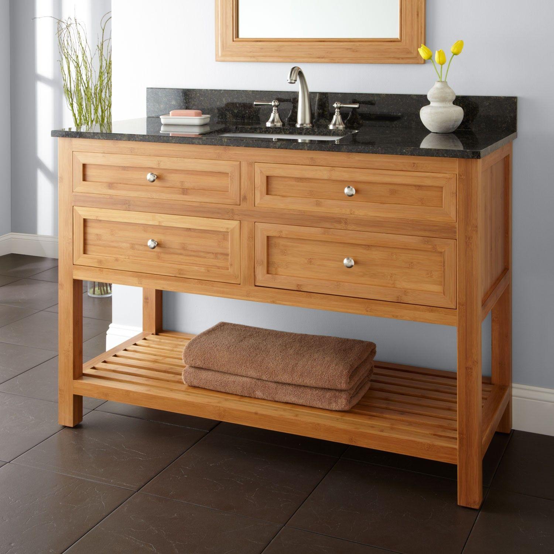 Thayer Bamboo Vanity For Undermount Sink Vanities Bathroom