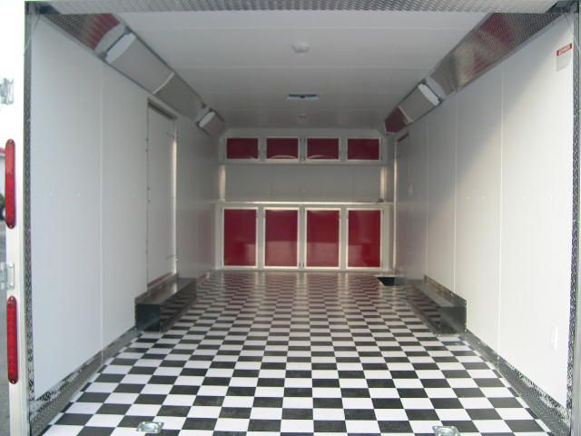 The Inside Of The Carmate Enclosed Car Trailer