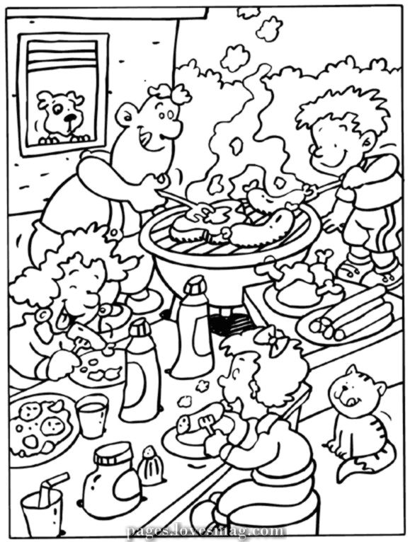 Magical Bbq In 2020 Summer Coloring Pages Colouring Pages Coloring Pages