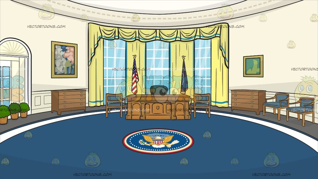 The Oval Office Background 1 Anime Studio Office Background