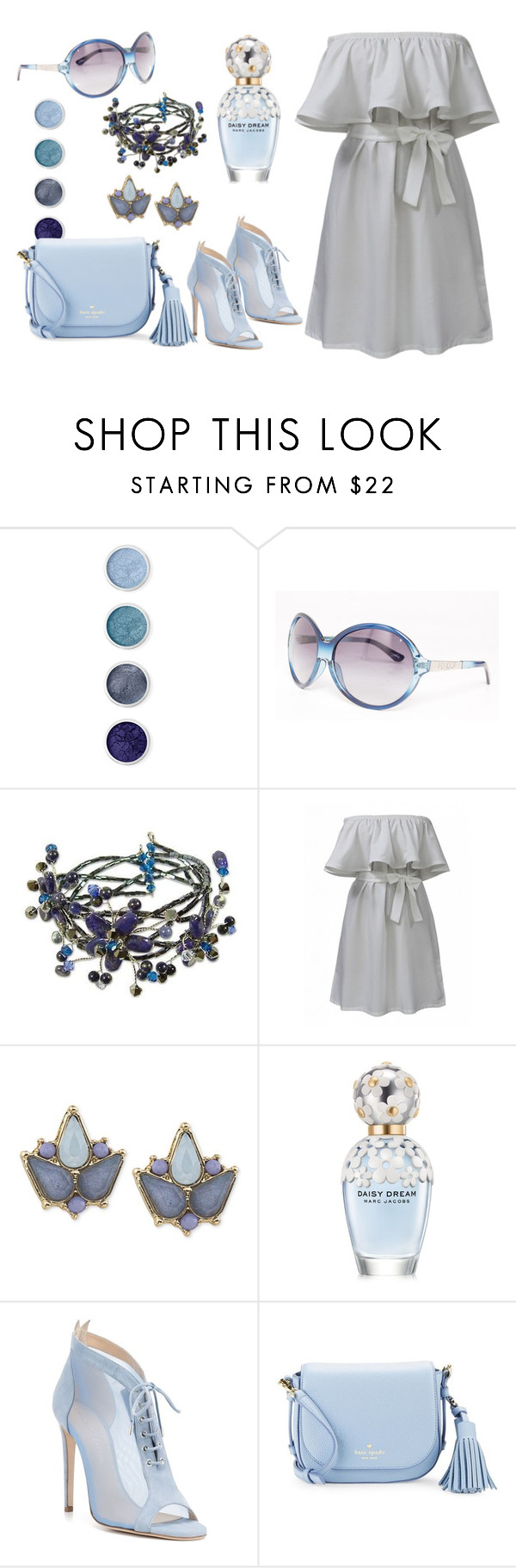 """Без названия #177"" by mahafromkailash ❤ liked on Polyvore featuring Terre Mère, Peridot London, NOVICA, Carolee, Marc Jacobs, Chloe Gosselin and Kate Spade"