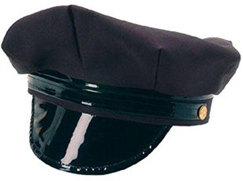 BLACK CHAUFFEUR HAT LIMO DRIVER LADIES FANCY DRESS COSTUME ACCESSORY