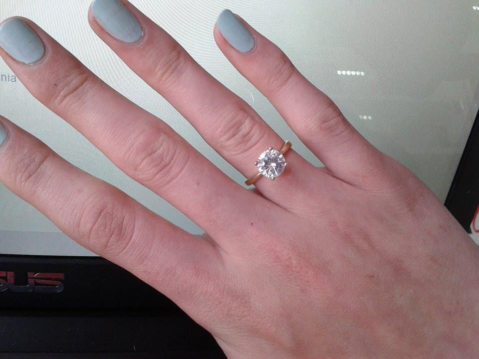 20 carat on size 6 finger pretty rings rings
