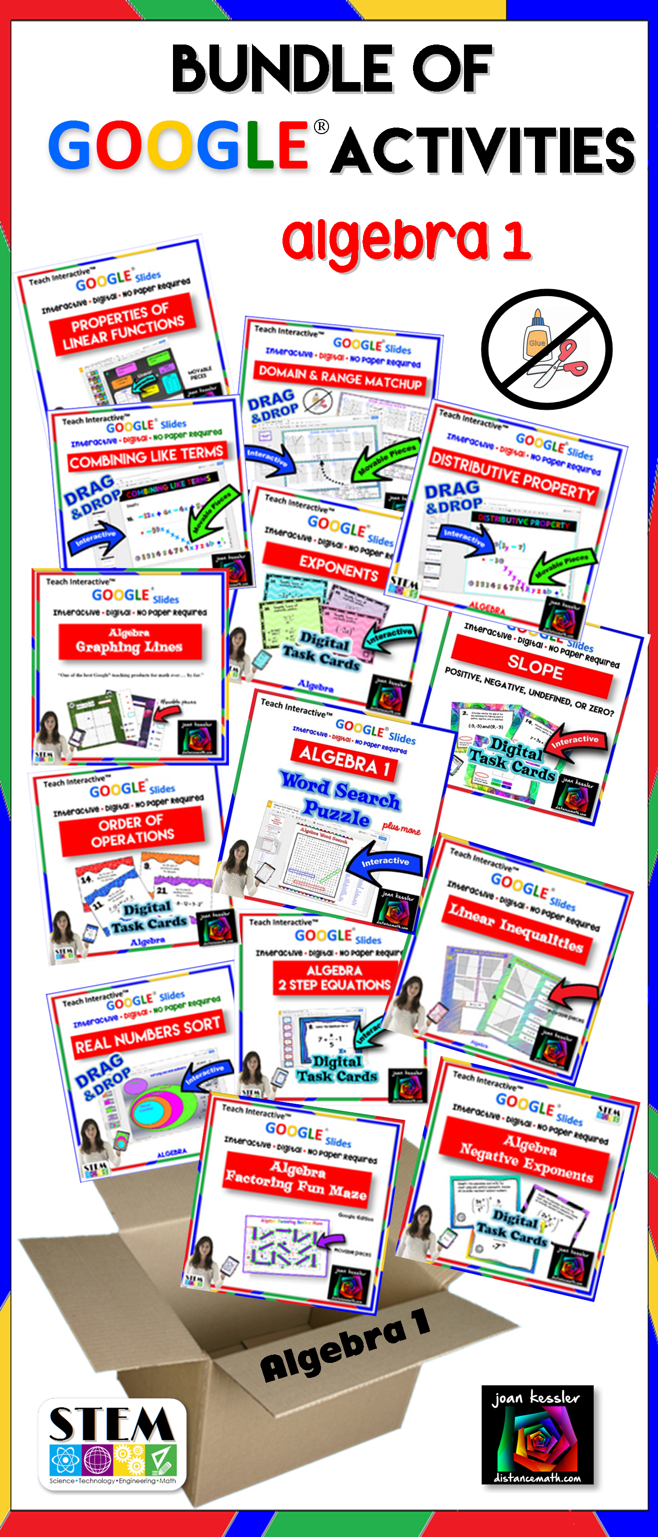 Algebra 1 Bundle Of Interactive Activities With