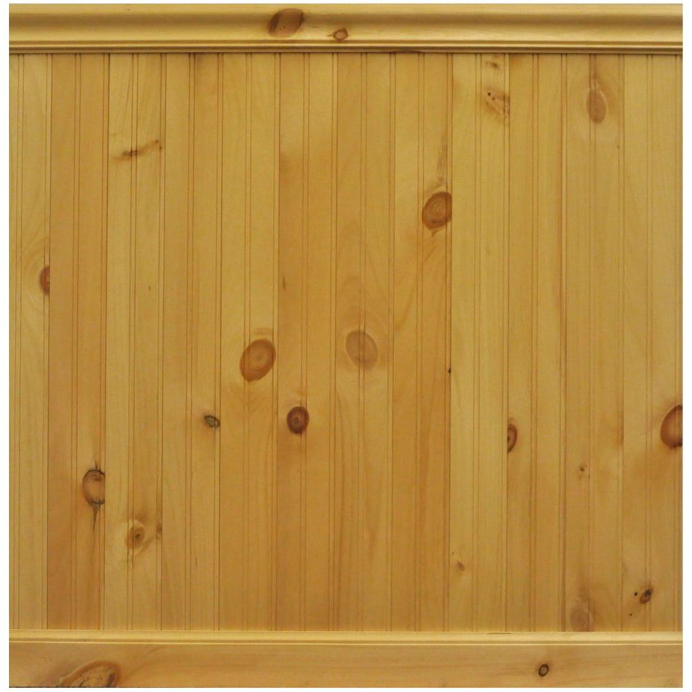 House Of Fara 8 Lin Ft North America Knotty Pine Tongue And Groove Wainscot Paneling 32pkit The Home Depot Wainscoting Panels Knotty Pine Wainscoting