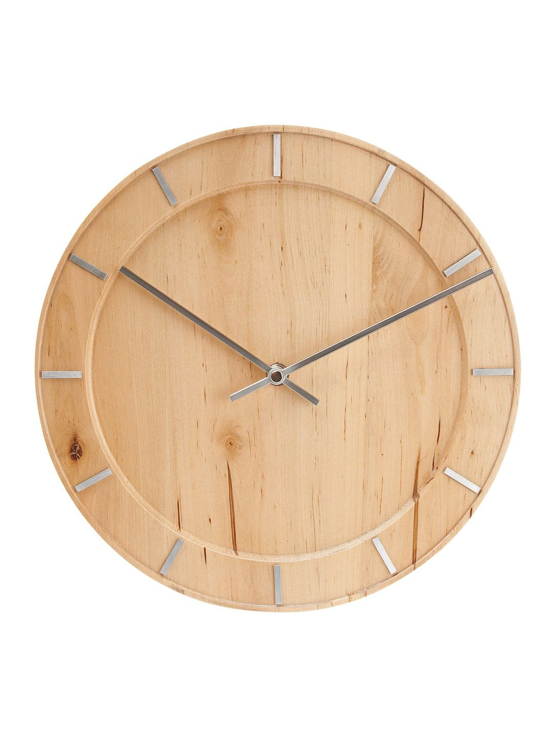 Natural Wood Wall Clock by Karlsson by Present Time at Gilt