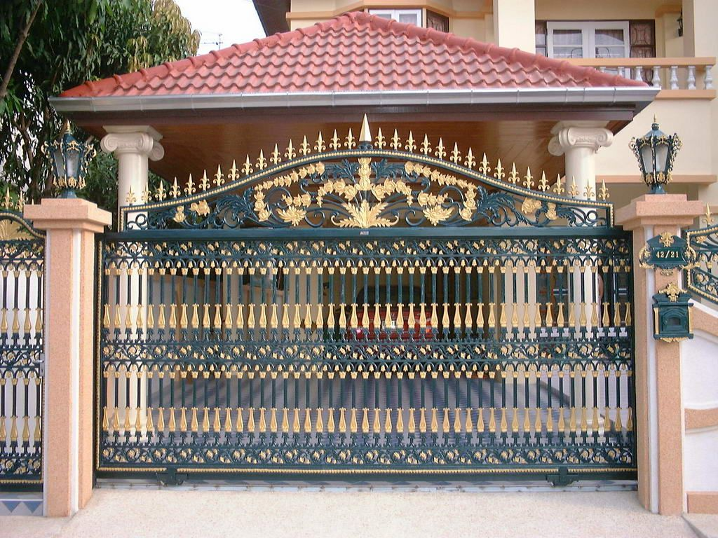 pictures of gates   Exotic Home Gate for Modern Home Design   Home Design  Gallery. Modern homes iron main entrance gate designs ideas   Amazing Gate