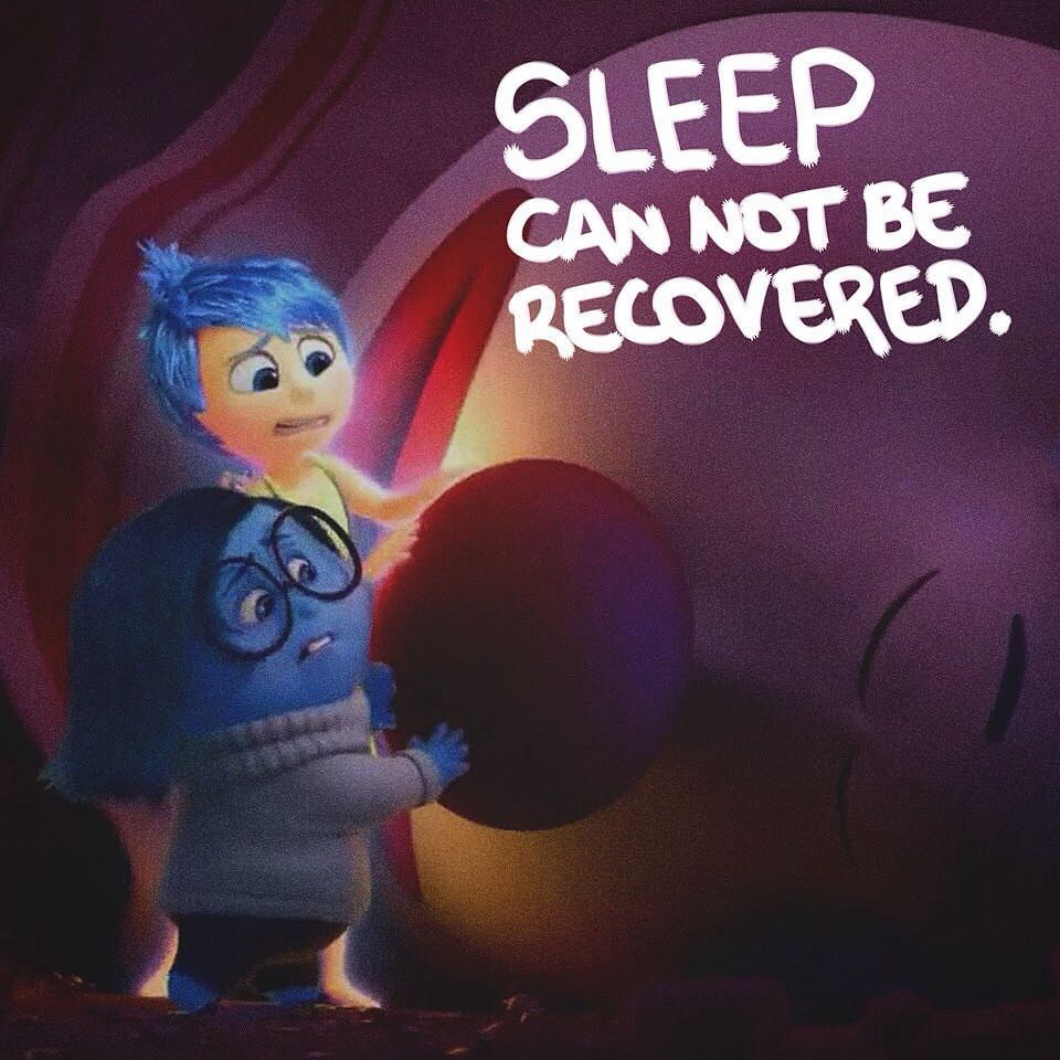 What you don't sleep you can not recover. | #Health #Dream