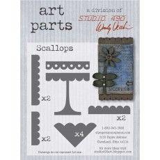 Scallops Art Parts Chipboard Studio 490 Wendy Vecchi
