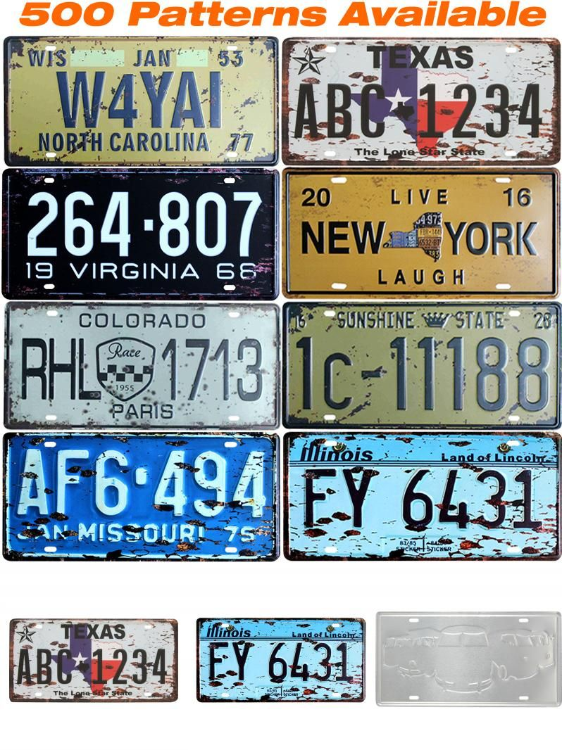 Metal Decorative Signs Extraordinary Visit To Buy  Famous States  Car American License Plate Vintage Design Ideas