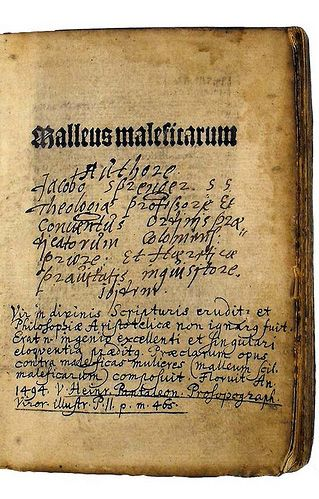 the malleus maleficarum translated from latin to english as the