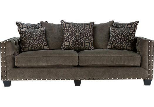 Shop For A Cindy Crawford Home Sidney Road Gray Sofa At