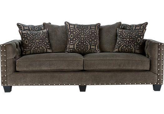 Cindy Crawford Home Sidney Road Gray Sofa   Sofas (Gray)