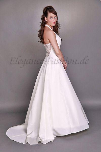 Wunderschönes Neckholder-Brautkleid Virginia 1-teiliges Kleid ...