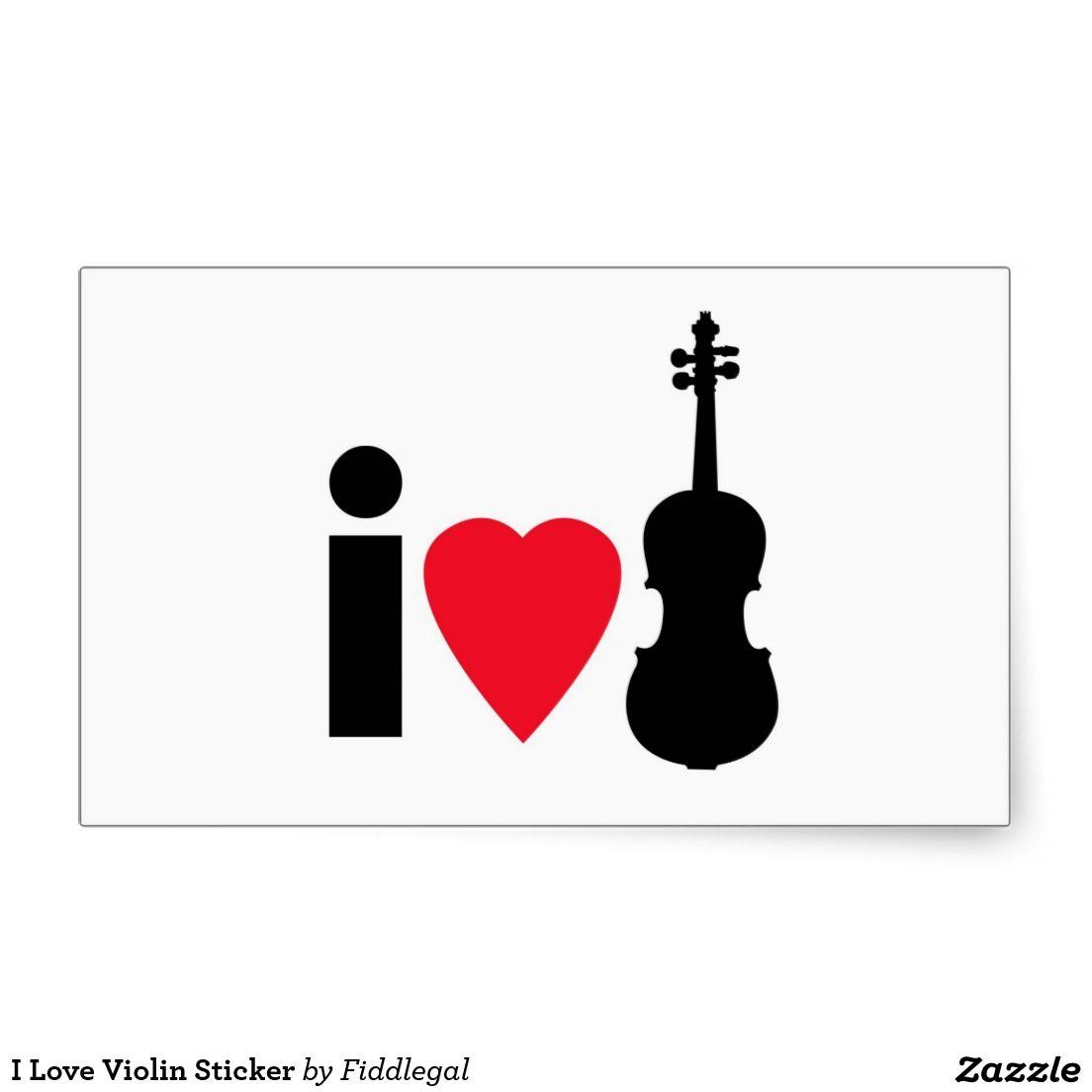 I Love Violin Sticker