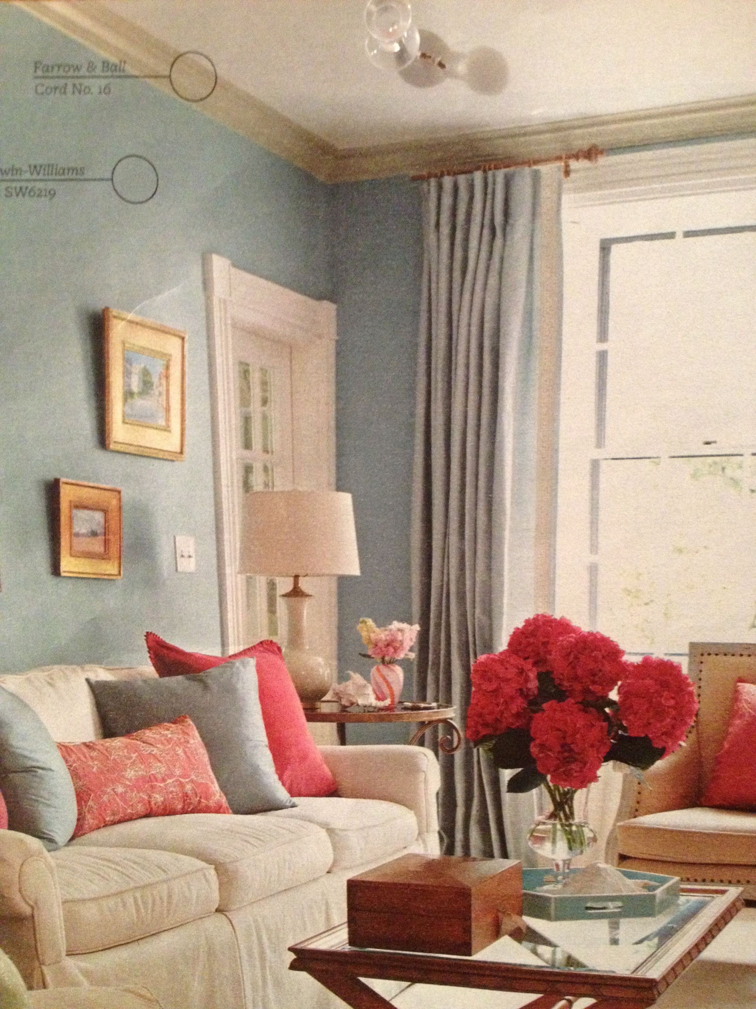 Room with Sherwin Williams Rain. We want to use this color