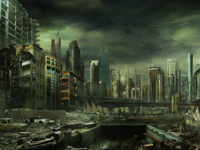 Fond Ecran Gratuit Hd Science Fiction42 All Images Post Apocalyptic City Futuristic City Post Apocalyptic