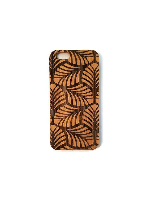 Leaves Tessilation bamboo wood iPhone case iPhone 6, iPhone 6s, iPhone 6 plus, iPhone 7, iPhone 7 plus, iPhone 8, iPhone 8 plus, iPhone X