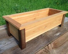 Craftsman style cedar planter box herb planter flower for Craftsman style window boxes