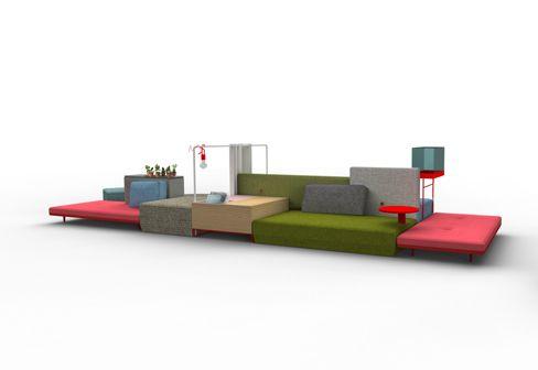 Moroso: Bkini sofa landscape