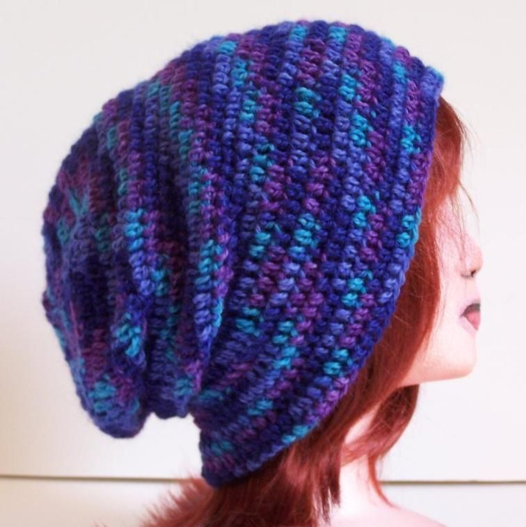 Outlier Slouchy Toque - DK | Craftsy free pattern | Crochet Hat ...
