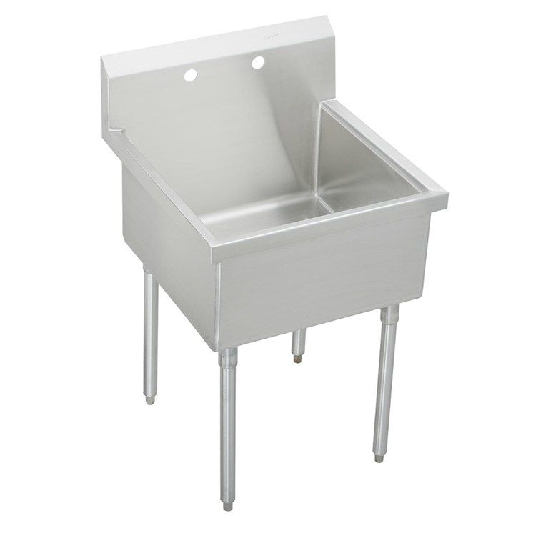 Sturdibilt 27 Single Compartment Floor Mount Scullery Sink With
