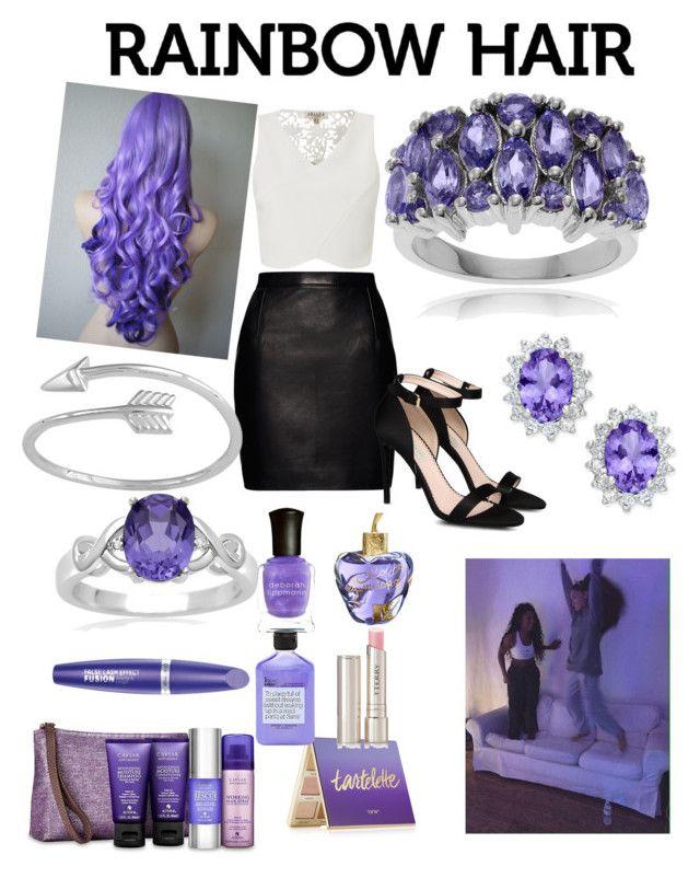 """purple hair"" by manderzlmao ❤ liked on Polyvore featuring beauty, Alterna, Lipsy, Magda Butrym, STELLA McCARTNEY, Journee Collection, Lolita Lempicka, Deborah Lippmann, Max Factor and tarte"