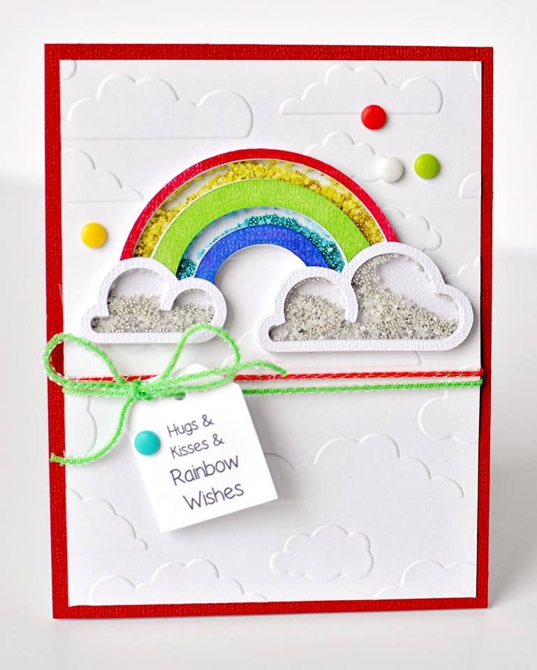 Making Your Own Cards Ideas Part - 48: Hugs U0026 Kisses U0026 Rainbow Wishes - Intimidated By The Idea Of Making Your Own  Shaker