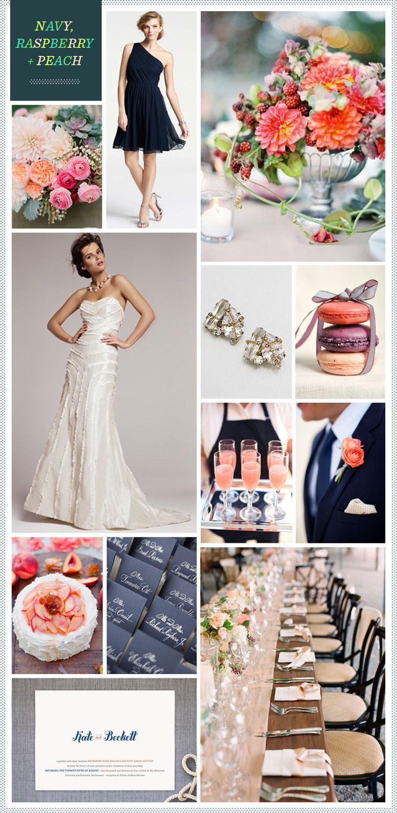 REVEL: Navy, Raspberry + Peach wedding inspiration