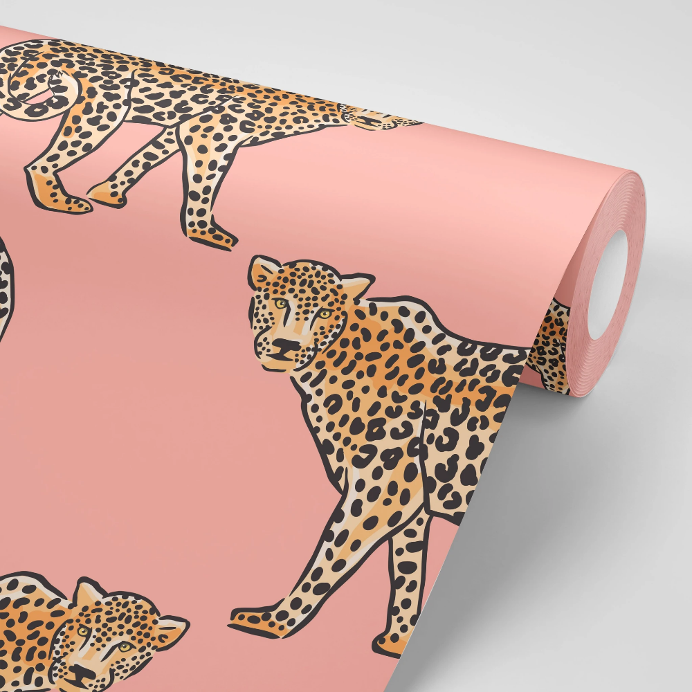 Jungle Leopard Peel And Stick Wallpaper Removable Wallpaper Leopard Wallpaper
