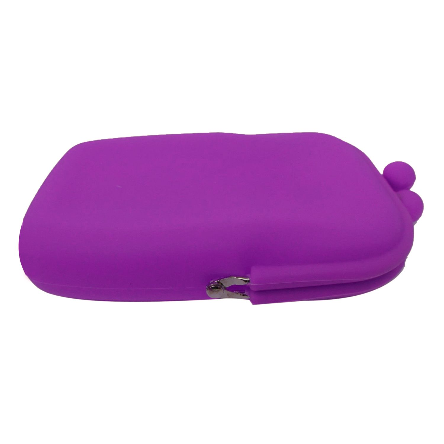 82207c0fd3cd IMC New style Silicone Cosmetic Makeup Bag Coin Purses Wallet Cellphone Bag  purple