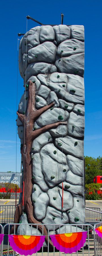 This would be a fun celebration night activity! 25ft Five Lane Rock Wall - Chicago Rock Wall Rental