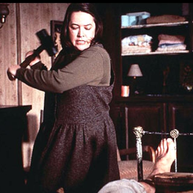 -kathy bates in misery...