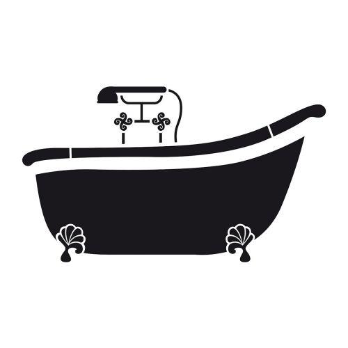 pochoir baignoire 21x30cm stencil pochoir baignoire. Black Bedroom Furniture Sets. Home Design Ideas