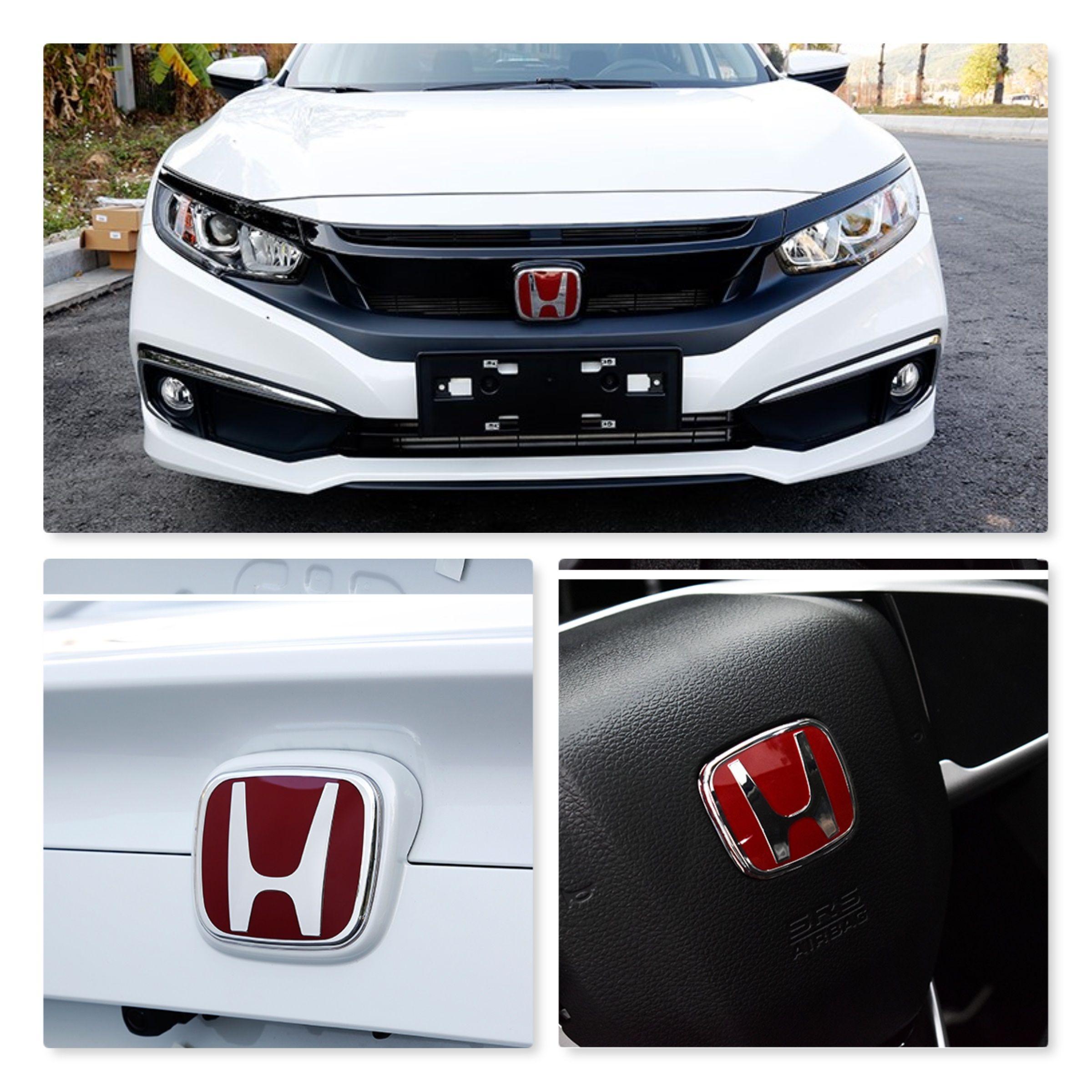 20162010 Honda Civic Si Rear+Front+Steering Wheel EMBLEM