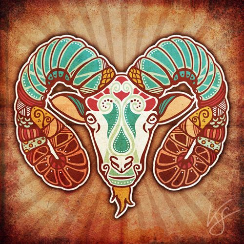 Aries ♈.Bohemian Aries zodiac art print. For in depth info on Aries personality & characteristics go to http://www.buildingbeautifulsouls.com/zodiac-signs/western-zodiac/aries-star-sign-traits-personality-characteristics/