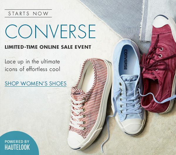Starts Now: Converse| Limited Time Online Sale Event | Lace