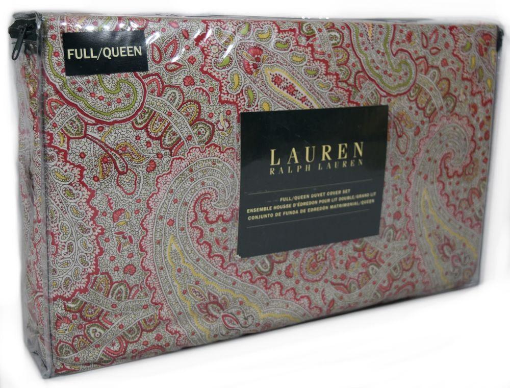 Taupe Paisley Cotton Bedding Set:1 Duvet Cover 2 Pillow Shams  Queen//King//Cal K
