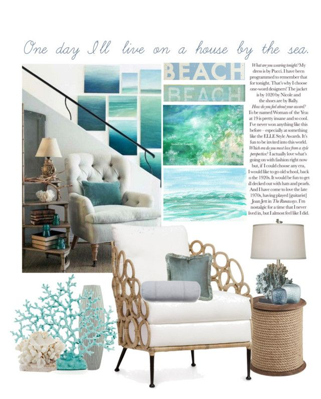 Dreamy Beach House By Alynncameron Liked On Polyvore Featuring